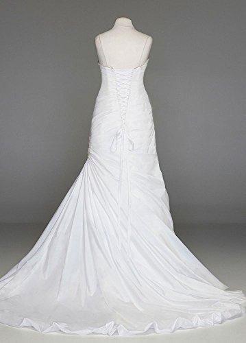 Échantillon De Mariée David: Bustier Style De Robe De Mariée Trompette Sweetheart Ai13012503 Blanc
