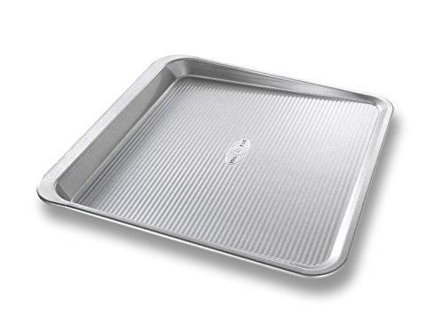 USA Pan Bakeware 10205MC Easy Slide Non Stick Cookie Sheet Pan, Medium, Silver