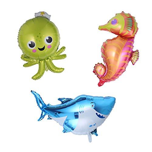 NUOLUX Sea Animal Foil Balloon Giant Balloons Pack of (Shark Balloons)
