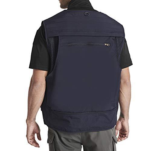 TACVASEN Men's Quick Dry Fishing Photography Travel Journalist Vest Work Multi-Pockets Waistcoat Jacket