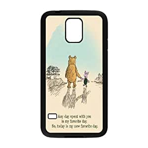 High Quality Phone Back Case Pattern Design 15Funny Cartoon Winnie Series- For Samsung Galaxy S5