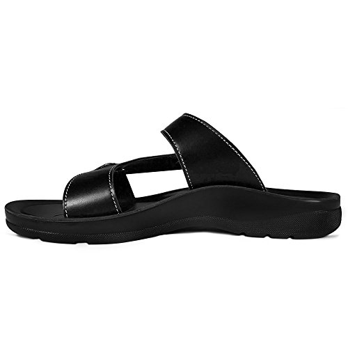 AEROTHOTIC Original Orthotic Comfort Slip On Sandals and Flip Flops with Arch Support for Comfortable Walk (US Women 11, Thistle Black) by AEROTHOTIC (Image #5)