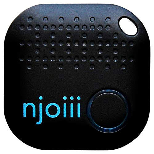 Njoiii Bluetooth Key, Phone, Anything Finder for Your Items with Replaceable Battery, Black (Best Iphone Finder App)