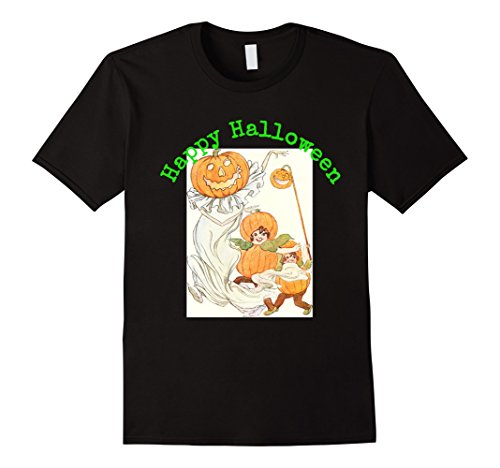Halloween 1914 Costumes (Mens Happy Halloween 1914 picture t shirt XL Black)