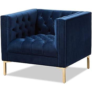 Amazon Com Iconic Home Dafna Accent Club Chair Sleek
