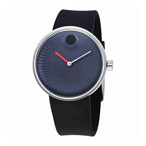 Movado Edge Blue Aluminum Dial Swiss Quartz Men's Watch 3680004 ()