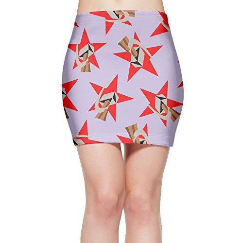 SKIRTS WWE Communist-USSR-Hammer Women Slim Fit High Waisted Mini Short Skirts by SKIRTS WWE