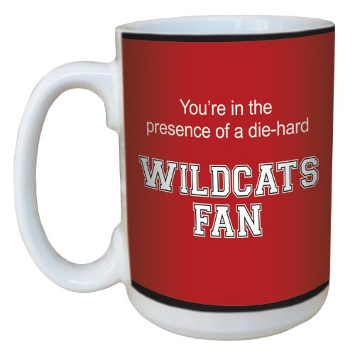 Tree-Free Greetings lm44420 Wildcats College Football Fan Ceramic Mug with Full-Sized Handle, 15-Ounce
