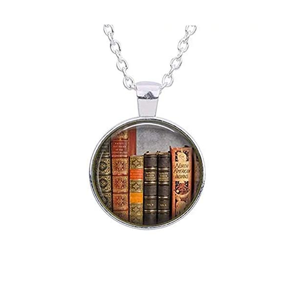 Library Book Necklace, Librarian Pendant, Bibliophile, Classic Literature, Book Quote, Literary, Literacy, Gift Idea, Book Lovers, Read 3