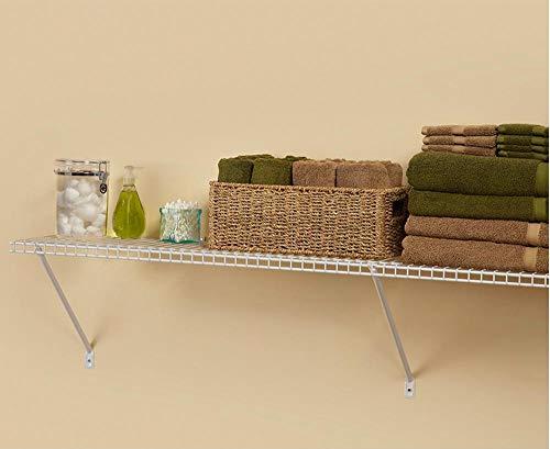 (ClosetMaid 1041 Wire Shelf Kit, 4-Feet X 12-Inch, White)