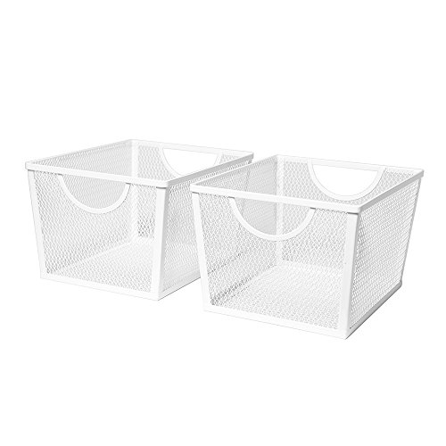 Seville Classics Small Wire Nesting Utility Shelf Storage Basket, 8
