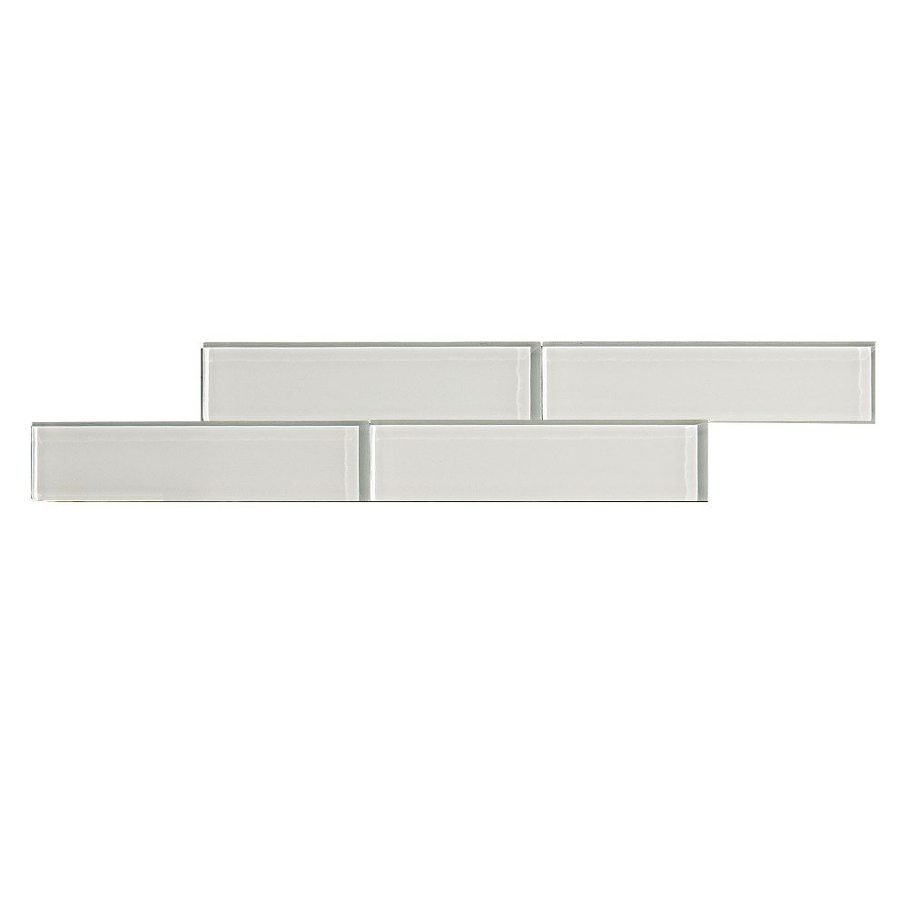 3-Pack Aspect Peel and Stick Backsplash 12.5in x 4in Subway Rustic Clay Matted Glass Tile for Kitchen and Bathrooms