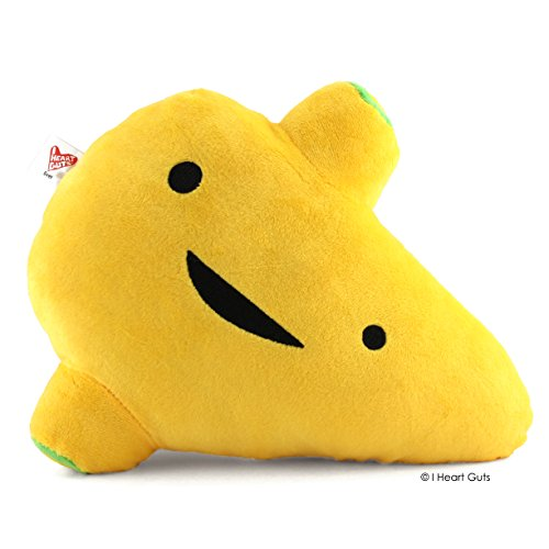 LARGE LIVER Designer Plush Figure - I'm A Liver Not A Fighter from the I Heart Guts Series (Game Tummy Ache)