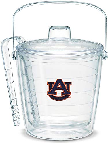 Tervis 1007641 Auburn Tigers Ice Bucket with Emblem and Clear Lid 87oz Ice Bucket, Clear