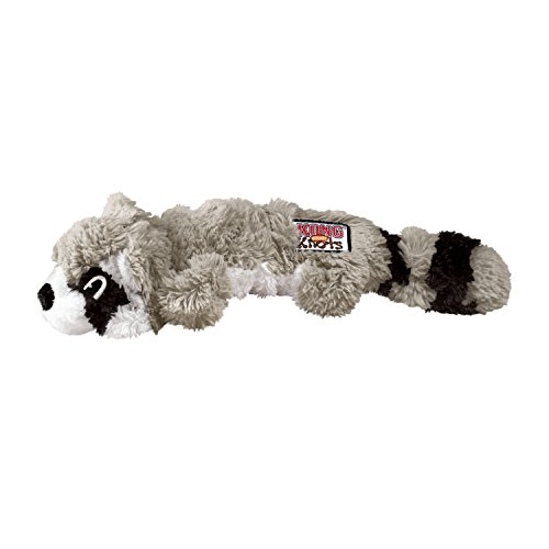 KONG - Scrunch Knots Raccoon - Internal Knotted Ropes and Minimal Stuffing for Less Mess - For Medium/Large Dogs