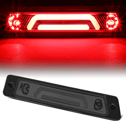 Rear Center 3D LED Bar Third 3rd Tail Brake Light for 87-93 Ford Mustang GT/Cobra Hatchback w/Spoiler (Smoked)