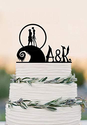 Christmas Wedding Cake Toppers.Amazon Com The Nightmare Before Christmas Cake Topper