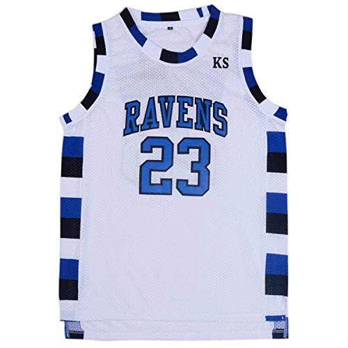 TUEIKGU Mens Ravens Basketball Jersey #23 Nathan Scott Sports Movie Jersey White (X-Large) ()