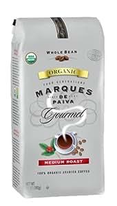 Marques De Paiva Medium Roast 100% USDA Organic Whole Bean Coffee, 12-Ounce Bags (Pack of 4)