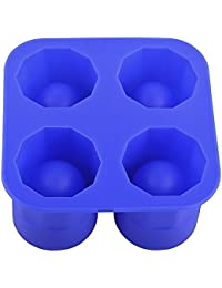 Get 4-cup Shape Rubber Shooters Shot Ice Cube Glass Freeze Mold Maker Tray Party dispense