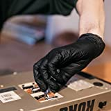 GLOVEWORKS Industrial Black Nitrile Gloves, Box of