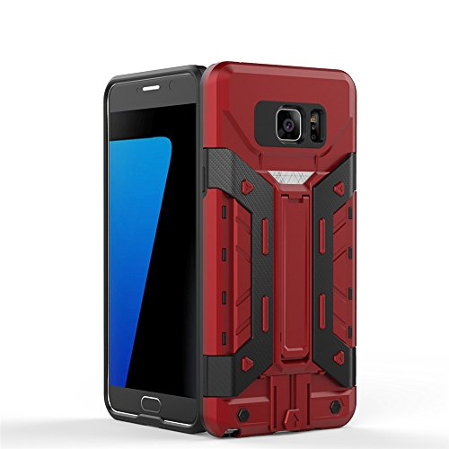 Anti-knock Shockproof Armor Case for Samsung Galaxy Note 5 Red - 9