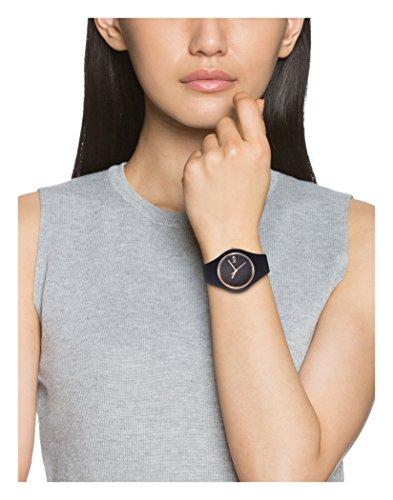 Ice-Watch - Ice Glam Schwarz Rose-Gold - Damen wristwatch mit Silikonarmband - 000980 (Medium) 6