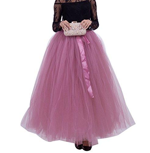 Donna lunghe Rubber tulle Bubble Balletto Petticoat Skirt Principessa Rosso Puffy gonne Sottogonna Tutu rnSqPApxrw