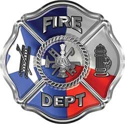 Amazon Com Reflective Traditional Fire Department Fire