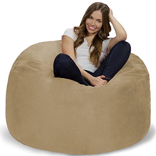 41rO78M9wAL - Chill-Sack-Bean-Bag-Chair-Giant-4-Memory-Foam-Furniture-Bean-Bag-Big-Sofa-with-Soft-Micro-Fiber-Cover-Camel