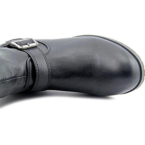 Matériel Fille Larisa Large Veau Femmes Nous 6.5 Noir Genou Haute Botte