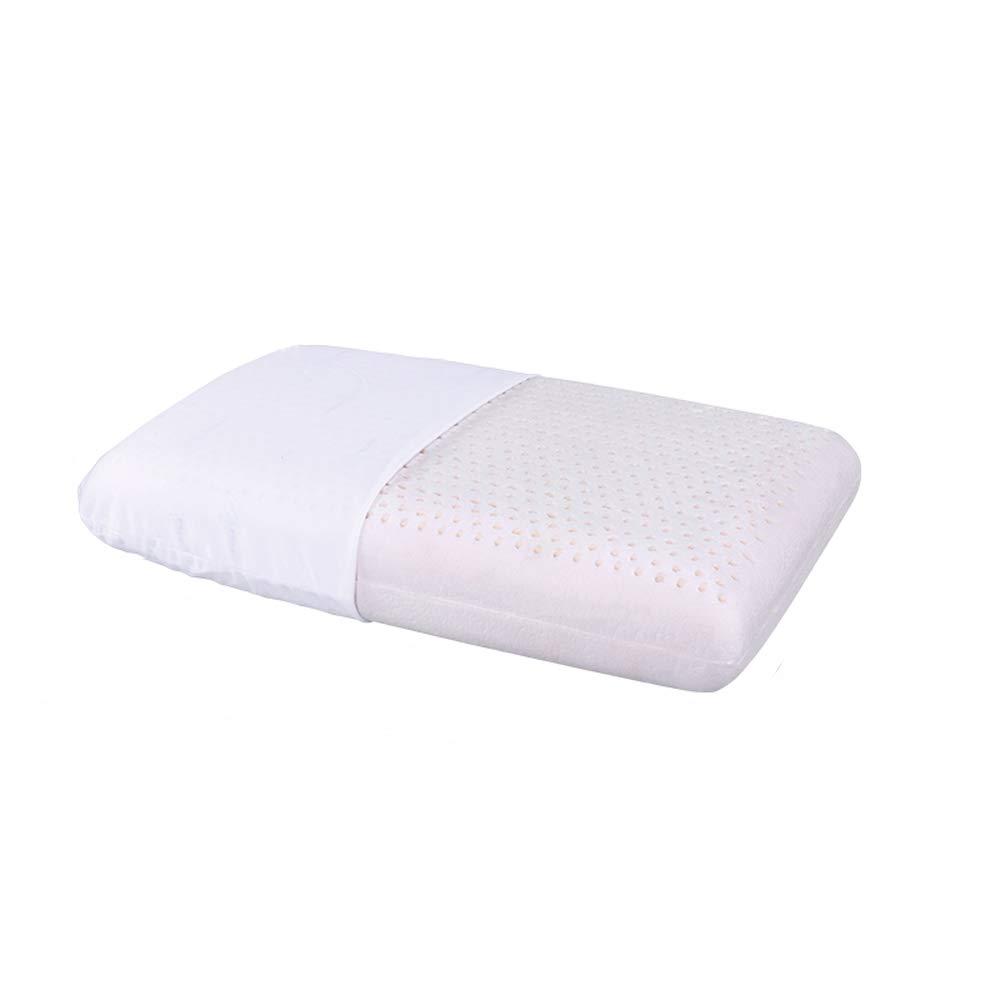 Nosterappou Latex Pillow Bread Pillow Long Version Household Pillow Breathable Rubber Pillow Men and Women Single Cervical Pillow 70×40×13cm
