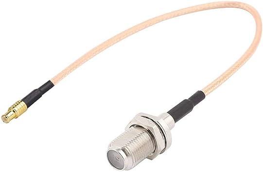RG316 Coaxial Cable Coaxial, Tengko 15cm Adaptador de Antena Wifi MCX Macho Interruptor Directo a F Femenino Jack Pigtail Cable: Amazon.es: Electrónica