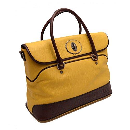 Borsa tracolla La Martina Polo Uomo Donna Pelle cartella gialla  Amazon.it   Scarpe e borse c50618e98cc