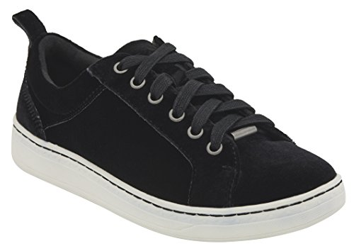 Lace Black Sneakers Top Low Velvet Fashion Womens Zag Up Earth H8qIFAC