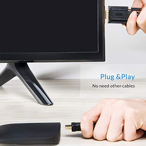 Unnlink HDMI Cable to VGA 3.5mm Sound Cord PC, Laptop, Xbox 360 One, PS4 TV Box, Roku
