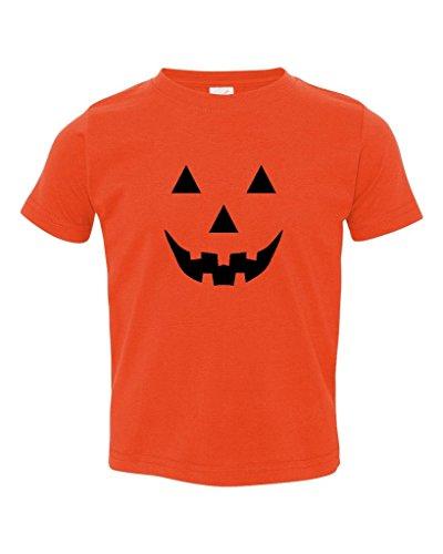 P&B Pumpkin Face Funny Halloween Toddler T-shirt, 5/6T,