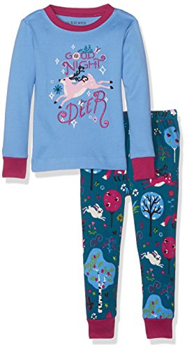 Little Blue House by Hatley Big Girls' Long Sleeve Appliqué Pajama Sets, Mystical Forest, 10 (Hatley Pj Set)