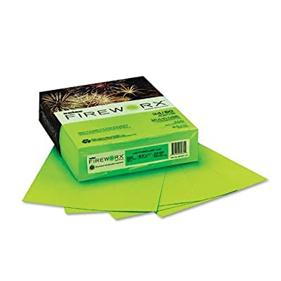 Boise Fireworx Color Copy/Laser Paper, 24 lb, Letter Size (8.5 x11), Lightning Lime, 500 Sheets (MP2241-LE)