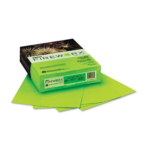 Boise Fireworx Color Copy/Laser Paper, 24 lb, Letter Size (8.5 x11), Lightning Lime, 500 Sheets (MP2241-LE)