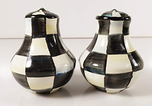 Mackenzie Childs Courtly Check Salt and Pepper Set (Mackenzie Child Salt And Pepper)