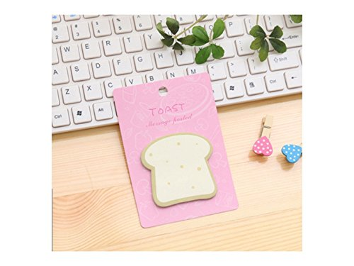 School Creative Toast Breakfast Pattern Sticky Note for Message Note(Pink) Office School
