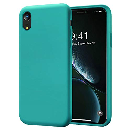 Cozosun for iPhone XR Case, Soft Silicone Gel Rubber Bumper Case Full Body Shockproof Protective Case Cover with Anti-Scratch Microfiber Lining Hard Shell for Apple iPhone XR, Teal Bule