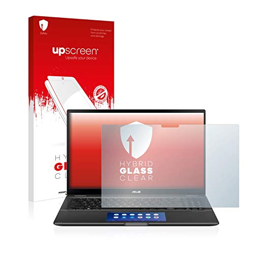 upscreen Hybrid Glass Clear Glass Screen Protector for Asus ZenBook Flip 15 UX563FD (flexible glass protector, high scratch protection 9H)