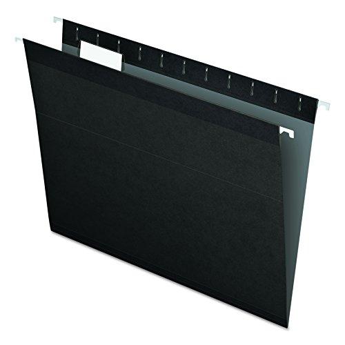Pendaflex Reinforced Hanging Folders, Letter Size, Black, 25 per Box (04152 1/5 BLA)