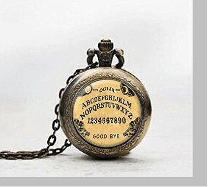 Ouija Board Pendant Pocket Watch ,Ouija Board Necklace Pocket Watch Charm, Ouija Board Pendant Pocket Watch Glass Tile Jewelry,glass Ouija Board Watch,ouija Board Potphoto (Board Jewelry Pendant)