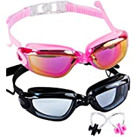 SBORTI Swim Goggles 2 Pack Swimming Goggles Adult Women...