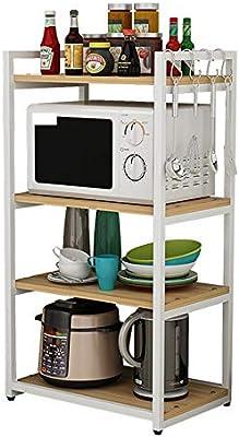 Estante para horno de microondas, Estantería de 4 estantes Unidad ...