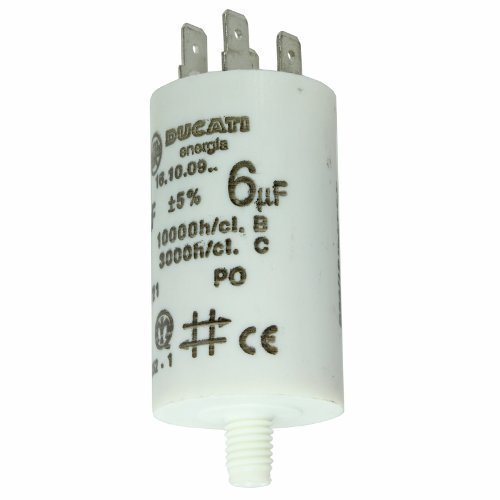 First4spares Universal Appliance Motor Start run Capacitor Microfarad 10UF (Spade Connector / Tags)