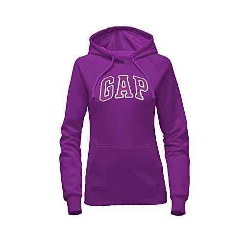 (GAP Women's Pullover Fleece Logo Hoodie (XX-Large, Bright Purple))
